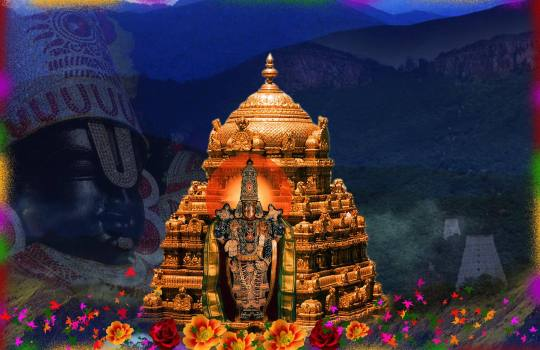 The Amazing Golden Gopuram Of Tirumala Temple