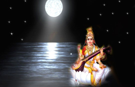 A Glowing Goddess Gnana Saraswathi Devi
