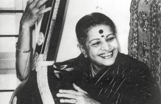 M.S.Subbulakshmi-Playing-Veena