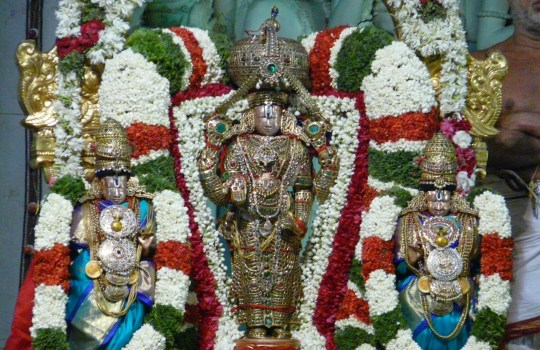 Sridevi Bhudevi Sametha Sri Malayappa Swamy On Tirumala Hills