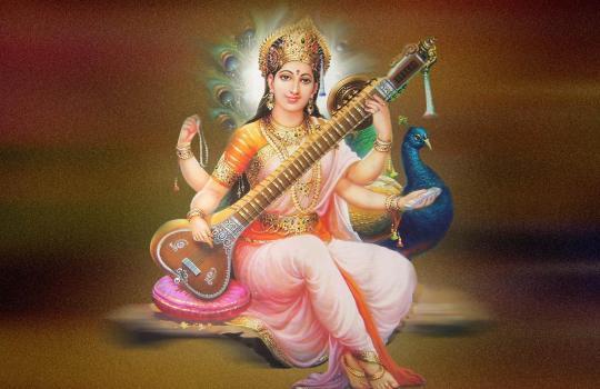Hindu Goddess Saraswathi
