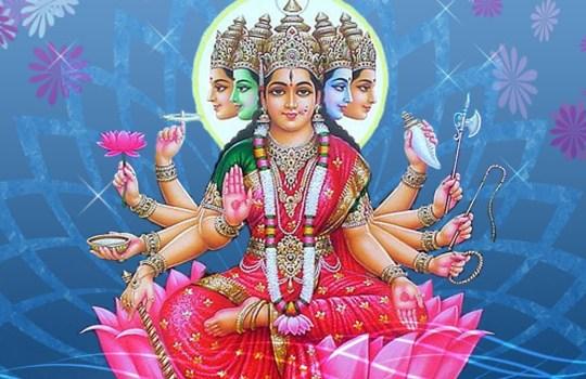 Hindu Goddess Gayatri