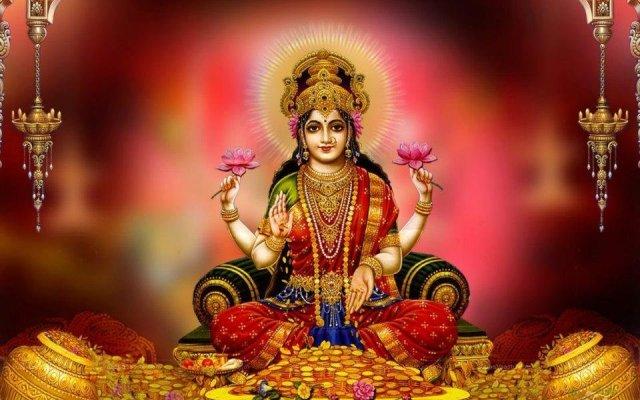 Hindu Goddess Sri Maha Lakshmi