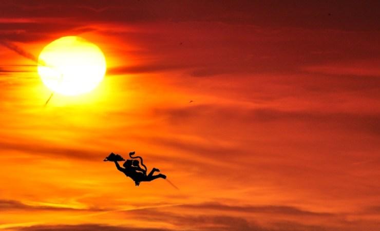 Amazing Lord Hanuman Flying
