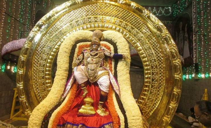 Lord Venkateswara On Chandra Prabha Vahanam During Tirumala Brahmotsavams