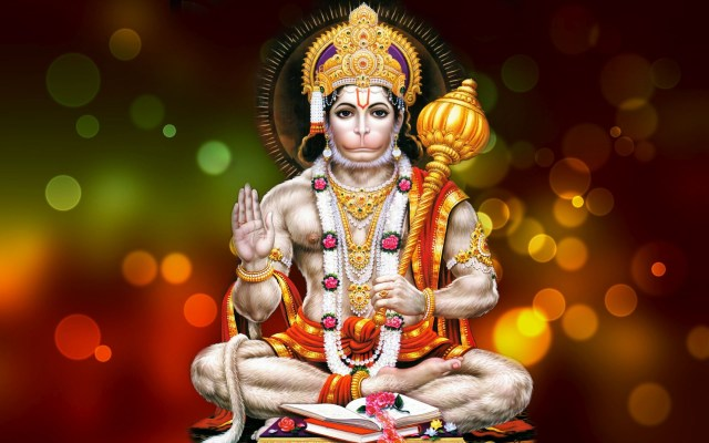 Lord Hanuman In Sitting Posture
