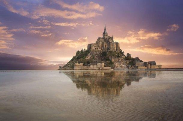 Mont Saint-Michelle in Normandia,