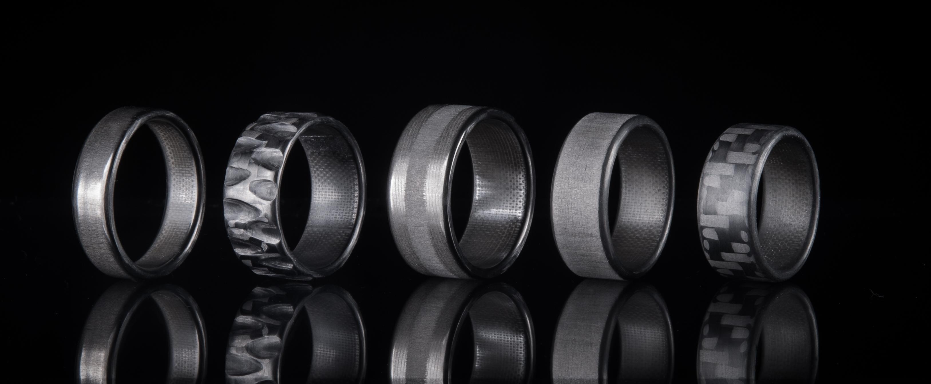carbon fiber rings carbon fiber wedding bands Carbon Fiber Rings