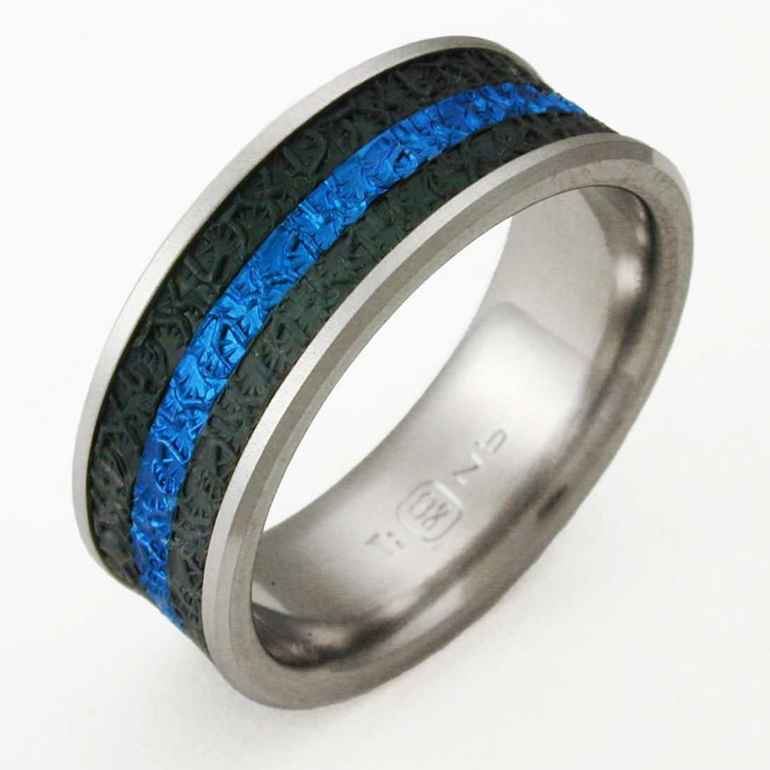 newman 3 titanium wedding band Newman 3 titanium ring with niobium Titanium Wedding Rings Handcrafted by Exotica Jewelry