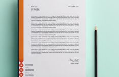 Customizable Photorealistic Letterhead Template