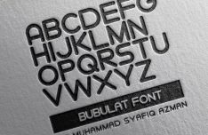 Bubulat Display Font