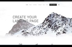 Light Modern Landing Page PSD Template