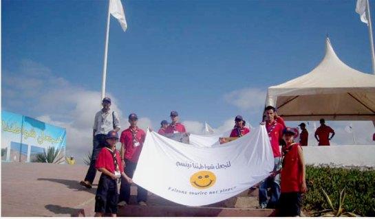 حملة نظافة بشاطئ أكلو