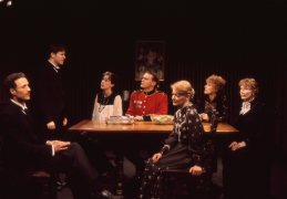 Robert Boardman, Kraig Swartz, Christa Scott-Reed, Jack Koenig, Arleigh Richards, Lisa Bostnar and Sally Kemp in THE VOYSEY INHERITANCE by Harley Granville-Barker. Photo: Michael Gottlieb