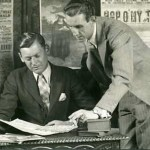 A photograph of Raymond Mander (r) and Joe Mitchenson (l) taken in 1942 (photo: Speight).  Reproduced courtesy of the Raymond Mander & Joe Mitchenson Theatre Collection.