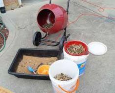 Cement Mixer Brass Tumbler