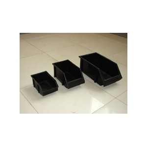Plastic storage bin