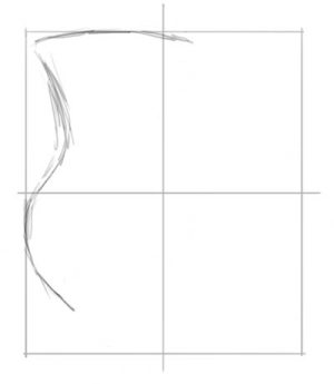 Draw lines that touch edges of frame first.