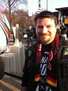 Tobi mit dem UEFA-Cup