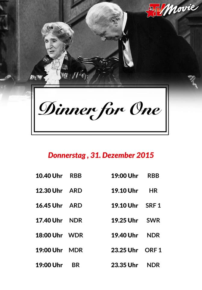 Dinner for One TV-Plan 2015