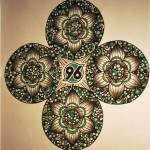 96-Mandala von Manfred (warmweiß)