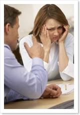Mujer maltratada emocionalmente.