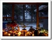 Luces navideñas en la ventana