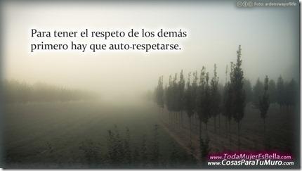 Para tener el respeto de los demás...