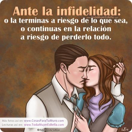 Ante la infidelidad...