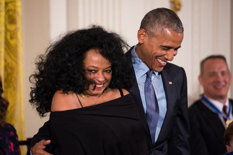 Diana and President Obama