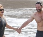 Hugh Jackman's Abs Appear as Fretted as Ever While Showering on the Beach