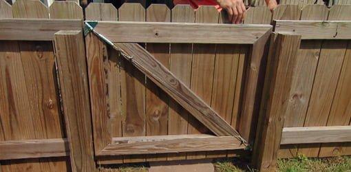 Wonderful Wood Fence Gate Plans Antisag Kit Installed On And Design Decorating