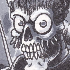 Sketch Cards - Wolf and Mars Attacks