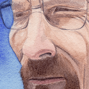 Watercolor Painting - Breaking Bad's Walter White