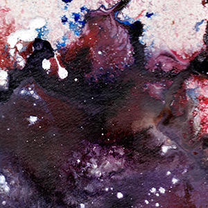 "Another Ink Splatter Painting: ""Cosmos"""