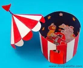 La caja m gica de la se o mercedes manualidades del circo for Como hacer un criadero de carpas