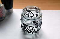 como pintar frascos de vidrio
