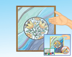 Como decorar espejos con vitrales