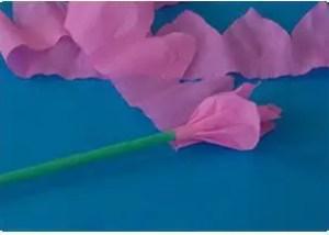 como hacer flores de papel paso a paso con imagenes