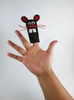 Como hacer marionetas de dedo con fieltro