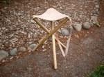 Como hacer un taburete trípode para camping