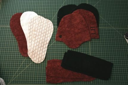 manualidades pantuflas