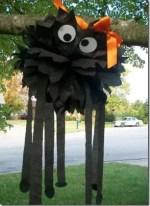 Como hacer una araña gigante de papel para Halloween