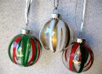 como hacer esferas para el arbol de navidad