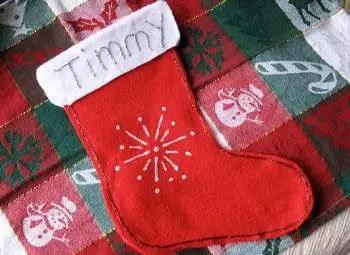 como hacer media de navidad