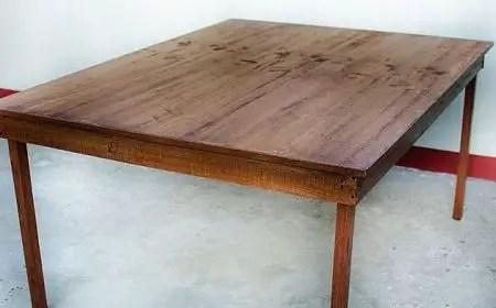 Como hacer una mesa de madera todo manualidades for Dimensiones de una mesa de trabajo
