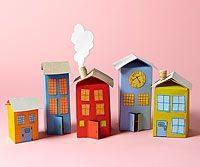 como hacer casas de carton