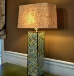 Como hacer una lampara chevron