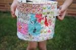 Como hacer una canasta de tela con patchwork