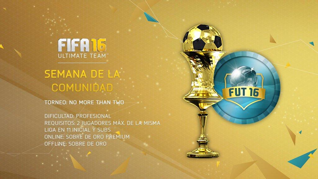Torneo FUT16: No More Than Two (Online & Offline)